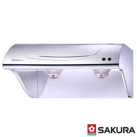 【櫻花】R-3250SXL 斜背式不鏽鋼除油煙機 90CM