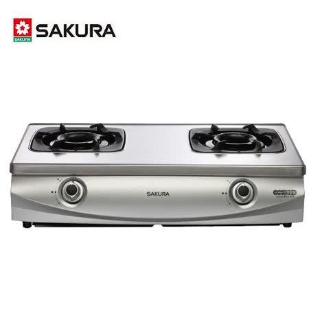 【櫻花】G-5900S 兩口雙炫火珍珠壓紋台爐
