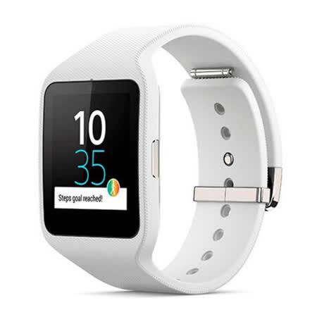 SONY SmartWatch 3 IP68 防水等級智慧手錶 SWR50 (白色矽膠錶帶 )