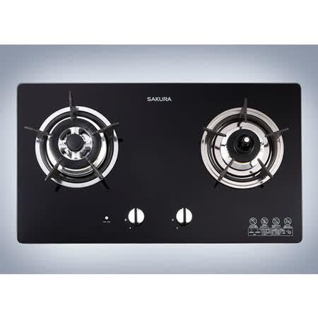 櫻花SAKURA G-2820G 二口防乾燒節能檯面爐