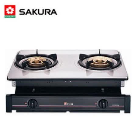 【櫻花】G-6600K  雙口正三環嵌入爐