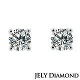 【JELY】完美焦點 0.30ct簡約時尚款鑽石耳環(針式)