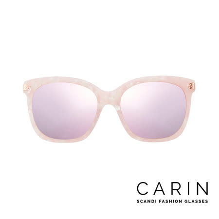 CARIN 韓國名星愛用經典款太陽眼鏡 Rénopolli-C3-Pink mirror(粉紅)