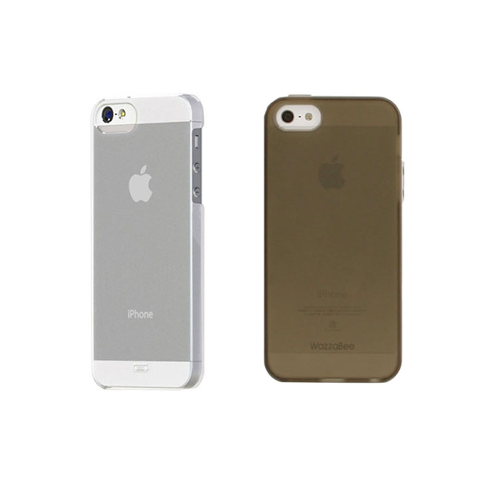 iPhone 5/5S/SE 超薄0.5MM磨砂霧面保護殼-茶色