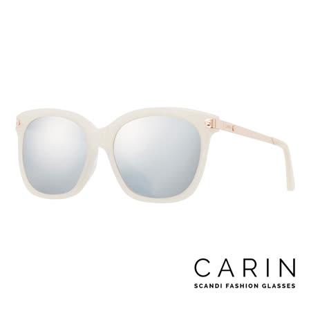 CARIN 韓國名星愛用經典款太陽眼鏡 Rénopolli-C4-Silver mirror(白)