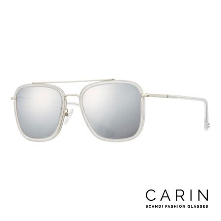 CARIN 韓國名星愛用經典款太陽眼鏡 METAL-C2-Silver mirror(白)