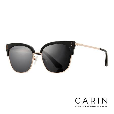 CARIN 韓國名星愛用經典款太陽眼鏡 QUEEN-C1(黑)
