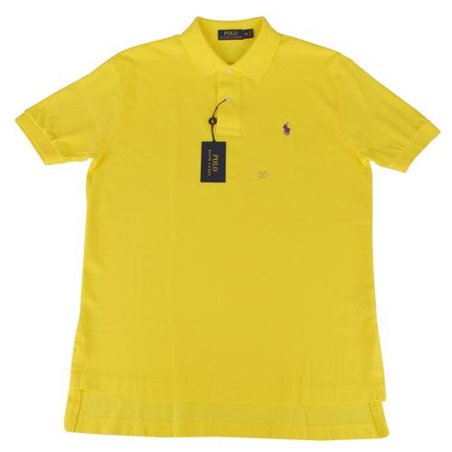 Ralph Lauren 經典戰馬短袖POLO衫(男/黃底小紫馬)