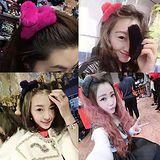 【 PS Mall 】 韓版純手工製作大號毛毛髮夾 G1875
