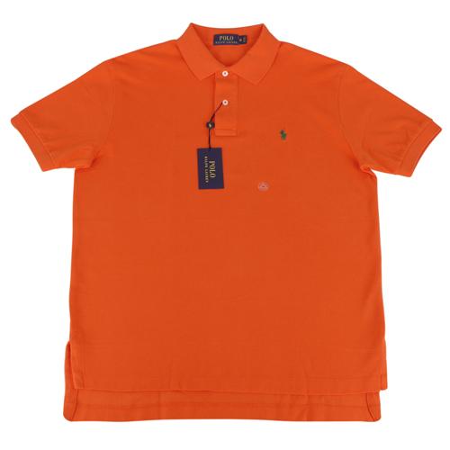Ralph Lauren 經典戰馬短袖POLO衫(男/橘底小綠馬)