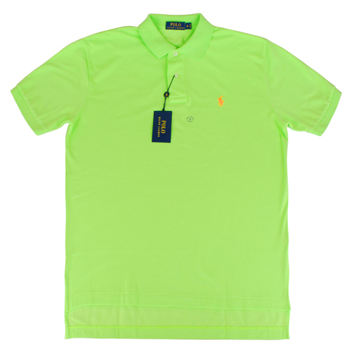 Ralph Lauren 經典戰馬短袖POLO衫(男/螢光綠小橘馬)