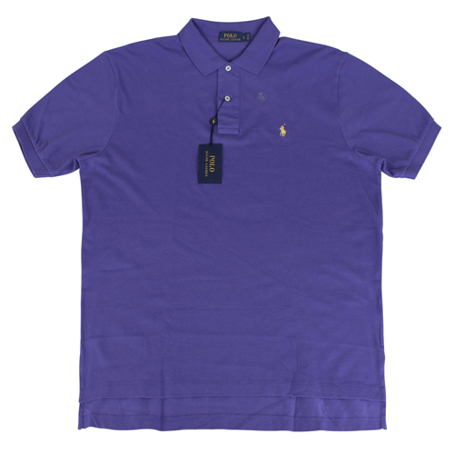 Ralph Lauren 經典戰馬短袖POLO衫(男/紫底小黃馬)