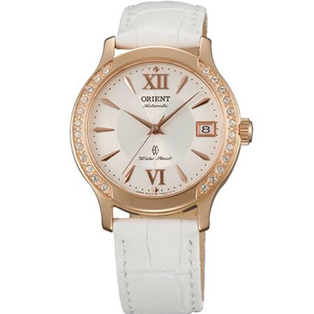 ORIENT 東方錶 ELEGANT系列 奢華時尚羅馬時標女用皮帶腕錶-36mm/FER2E002W