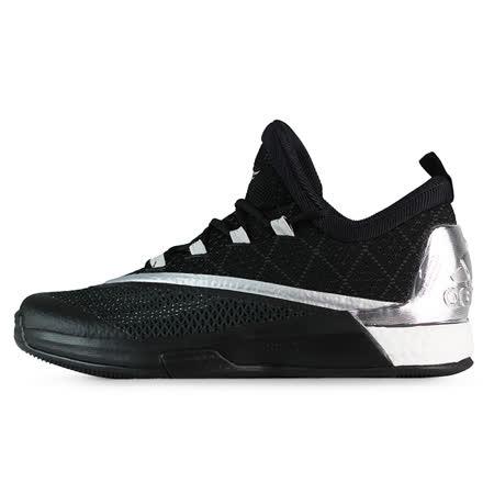 adidas 男 CRAZYLIGHT BOOST 2.5 LOW 愛迪達 籃球鞋 黑/銀 - AQ7584