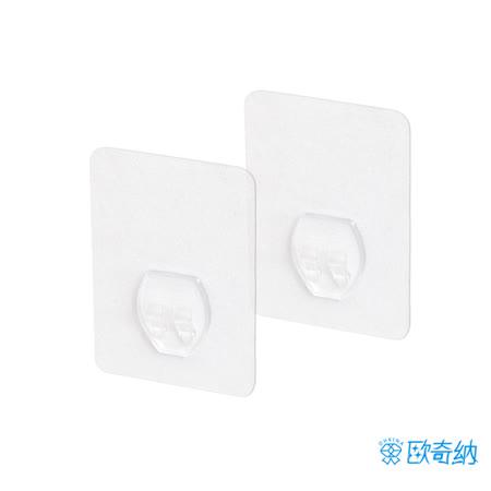 (任選)【歐奇納 OHKINA】隨手貼系列_置物架專用方型重複貼掛勾(6.2x8.8cm)-2入裝