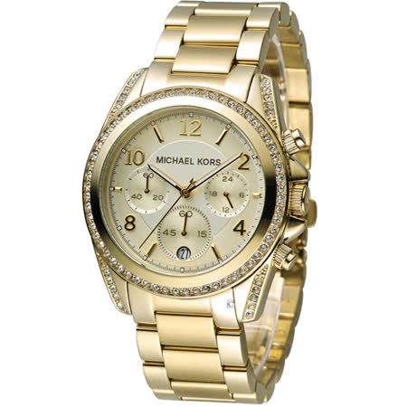 Michael Kors 自我風格晶鑽計時腕錶 MK5166
