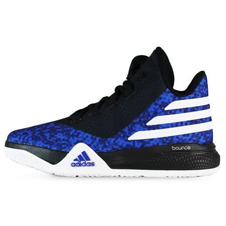 adidas 女 LIGHT EM UP 2 J 愛迪達 籃球鞋 藍/白 - AQ8509