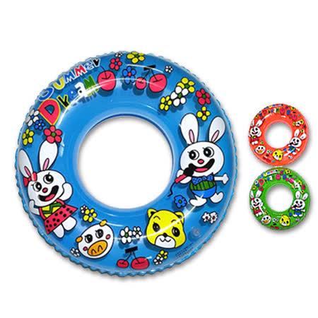 【玩樂一夏】24吋-開心兔寶寶造型泳圈(藍.紅.綠.橘四色可選) A2002-08