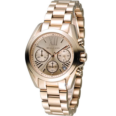 Michael Kors 漫步羅馬三眼計時腕錶 MK5799