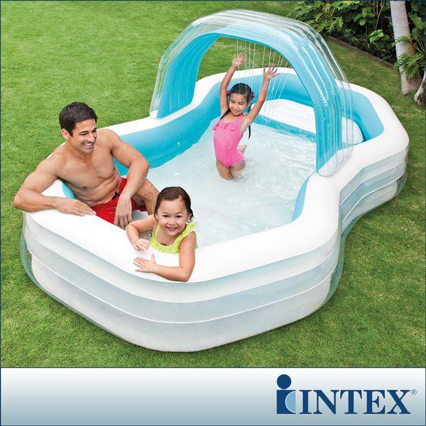 ~INTEX~家庭戲水噴水小屋游泳池310x188cm 700L   57198