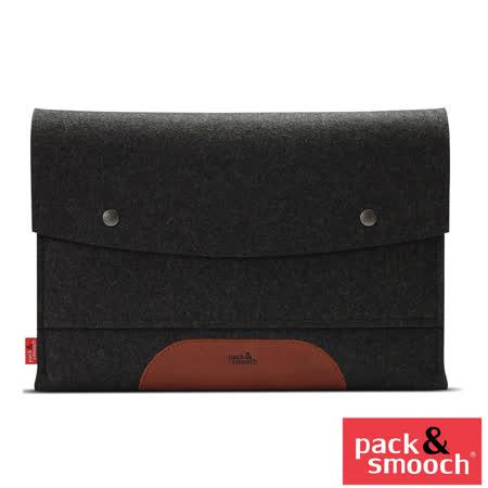 "Pack&Smooch Hampshire MacBook Pro13"" Retina羊毛氈保袋 ( ALB 碳黑/淺棕)"