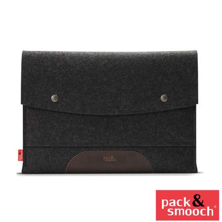 德國 Pack&Smooch Hampshire Apple MacBook Pro 13吋 (Retina) 手作羊毛氈保護內袋 (碳黑/深棕)