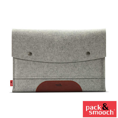 "Pack&Smooch Hampshire MacBook Pro13"" Retina羊毛氈保袋 (石灰/淺棕)"