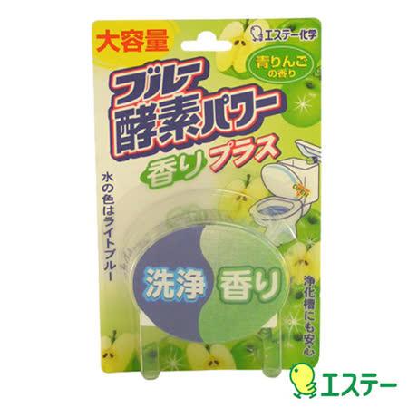 日本進口 馬桶自動清潔蘋果酵素芳香錠消臭劑 LI-115907