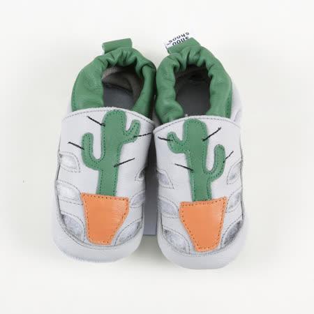 英國 shooshoos 安全無毒真皮手工鞋/學步鞋/嬰兒鞋_仙人掌涼鞋_101054 (公司貨)