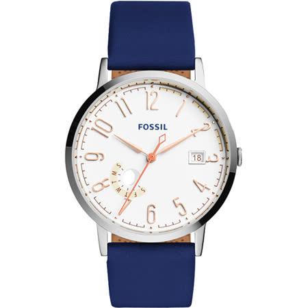【真心勸敗】gohappy快樂購FOSSIL Vintage 美式復刻風尚腕錶-白x藍/40mm ES3989評價怎樣巨 城 百貨 公司