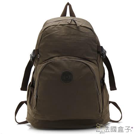 【法國盒子】超輕量多用途後背包(咖啡色)973