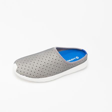 AIRWALK(男)- 輕盈透氣洞洞休閒鞋-淺灰