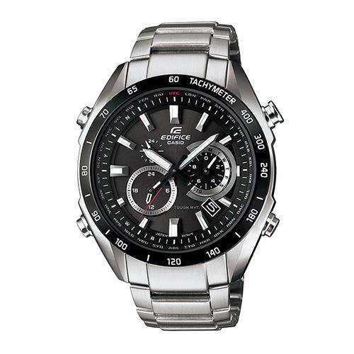 CASIO EDIFICE 三針三眼時尚太陽能電波腕錶-EQW-T620YDB-1A