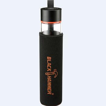 BlackHammer 耐熱玻璃水瓶-附布套(475ml)