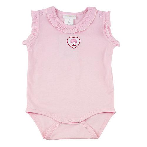 ~愛的世界~LOVEWORLD 海邊系列純棉荷葉邊連身衣3個月~1歲~ 製~