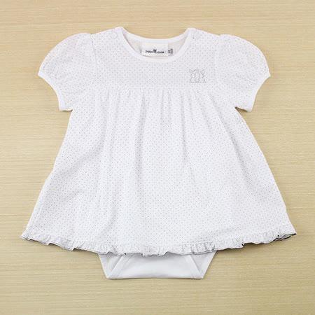 【愛的世界】pappa&ciccia 點點小兔系列純棉假兩件衣連褲/6個月~2歲-台灣製-