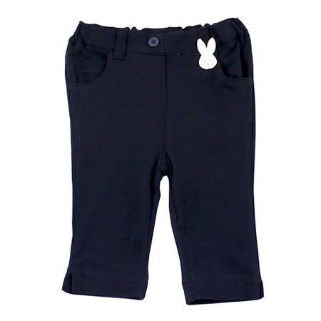 【愛的世界】pappa&ciccia 海灘小兔系列網眼休閒七分褲/2~3歲-台灣製-