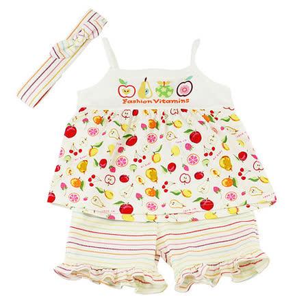 【愛的世界】MYBABY 水果百匯系列純棉細肩帶套裝/1~4歲-台灣製-