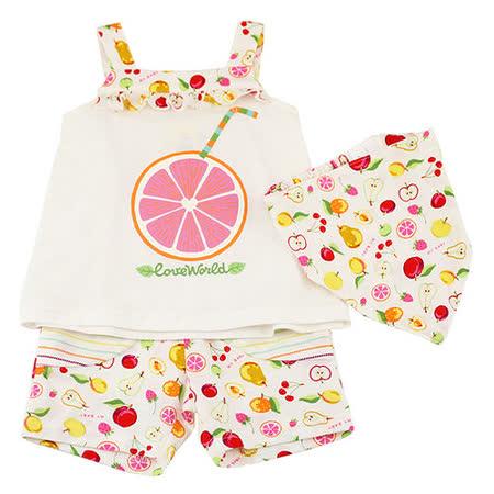 【愛的世界】MYBABY 水果百匯系列水果圖樣肩帶套裝/1~3歲-台灣製-