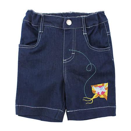 【愛的世界】MYBEAR 恐龍系列電繡牛仔短褲/4~10歲-中國製-