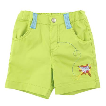 【愛的世界】MYBEAR 恐龍系列綠色電繡休閒短褲/2~3歲-中國製-