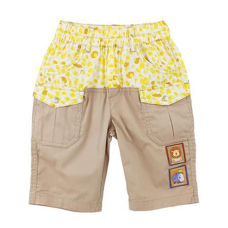 【愛的世界】MYBEAR 動物夥伴系列斑點拼色七分褲/2~3歲-中國製-