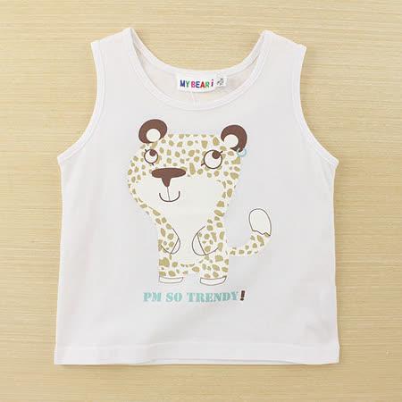 【愛的世界】MYBEAR 動物夥伴系列動物印圖背心上衣/1~3歲-台灣製-