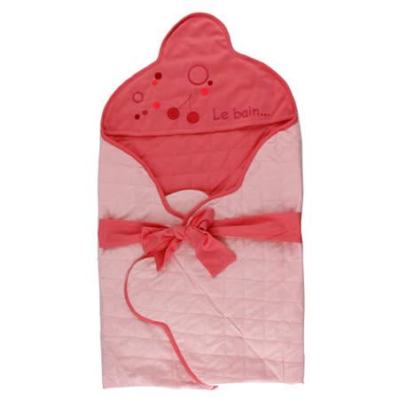 【愛的世界】Ma'rese 粉紅櫻桃綁帶針織布包巾-印尼製-