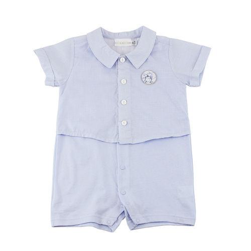 ~愛的世界~LOVEWORLD 蜻蜓系列假兩件襯衫式衣連褲6個月~2歲~ 製~