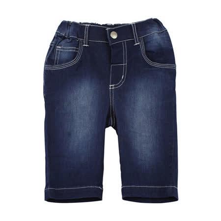 【愛的世界】pappa&ciccia 紳士小熊系列兔耳車線口袋刷白牛仔七分褲/2~4歲-中國製-