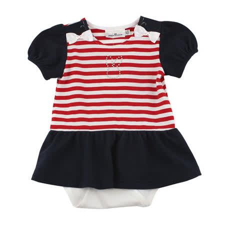 【愛的世界】pappa&ciccia 海灘小兔系列義大利洋裝衣連褲/6個月~2歲-台灣製-