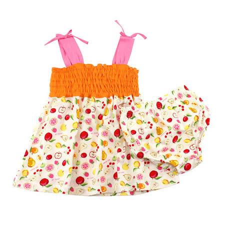【愛的世界】MYBABY 水果百匯系列肩帶露背套裝/1~3歲-台灣製-