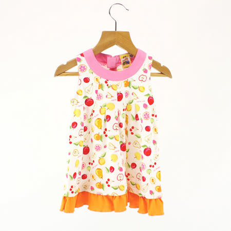 【愛的世界】MYBABY 水果百匯系列彩色水果無袖洋裝/3~6歲-台灣製-