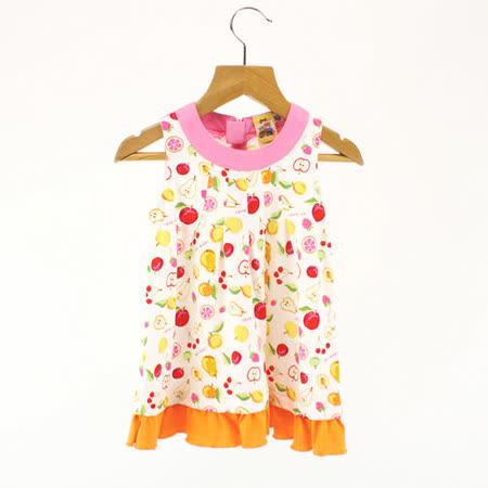 【愛的世界】MYBABY 水果百匯系列彩色水果無袖洋裝/6個月~2歲-台灣製-